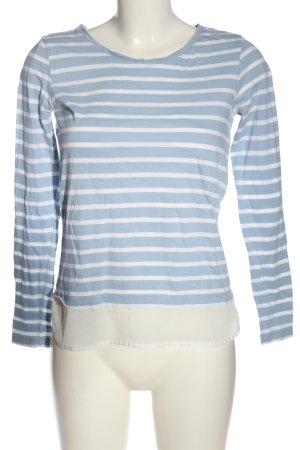 Tom Tailor Longsleeve blau-weiß Streifenmuster Casual-Look