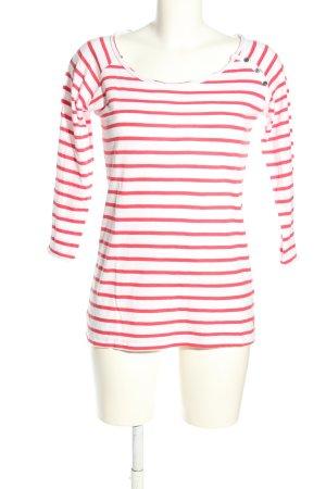 Tom Tailor Longsleeve weiß-pink Streifenmuster Casual-Look