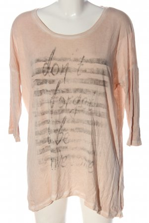 Tom Tailor Longsleeve pink Motivdruck Casual-Look