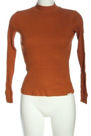Tom Tailor Top à manches longues orange clair style décontracté