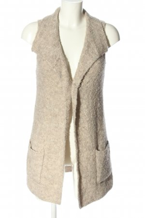 Tom Tailor Longstrickweste creme meliert Casual-Look