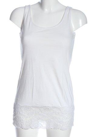 Tom Tailor Lange top wit casual uitstraling