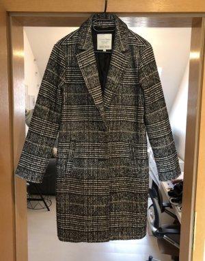 Tom Tailor Mantel klassisch schwarz weiß gr. M