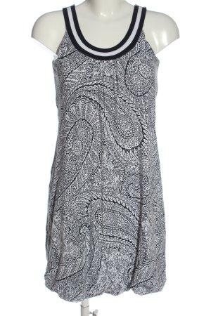 Tom Tailor Mini vestido negro-blanco estampado con diseño abstracto look casual