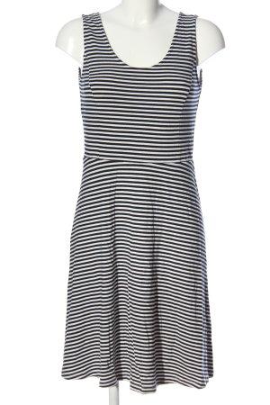 Tom Tailor Stretchkleid schwarz-weiß Streifenmuster Casual-Look