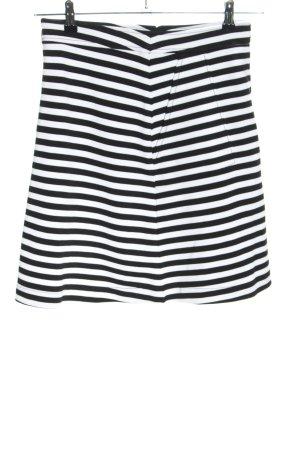 Tom Tailor Spódnica midi biały-czarny Wzór w paski W stylu casual