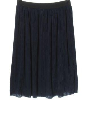 Tom Tailor Midirock schwarz-blau Casual-Look