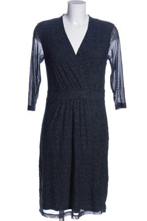 Tom Tailor Sukienka mini niebieski-czarny Na całej powierzchni W stylu casual