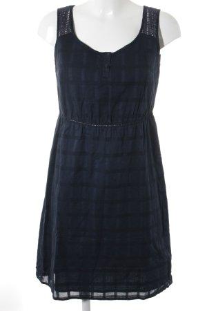 Tom Tailor Minikleid dunkelblau Karomuster Street-Fashion-Look