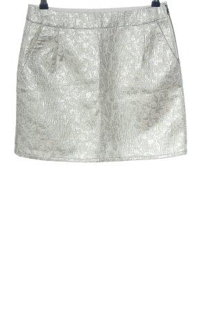 Tom Tailor Miniskirt light grey allover print wet-look