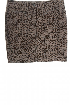 Tom Tailor Miniskirt brown-black allover print casual look
