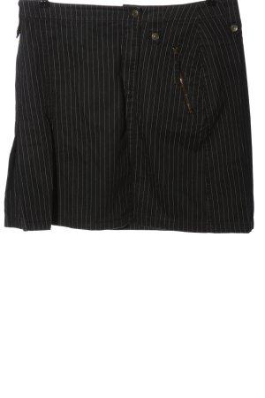 Tom Tailor Minirock schwarz-wollweiß Streifenmuster Casual-Look