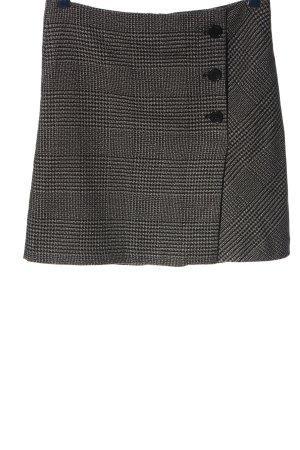 Tom Tailor Miniskirt black-natural white check pattern business style