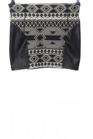 Tom Tailor Miniskirt black-white graphic pattern casual look
