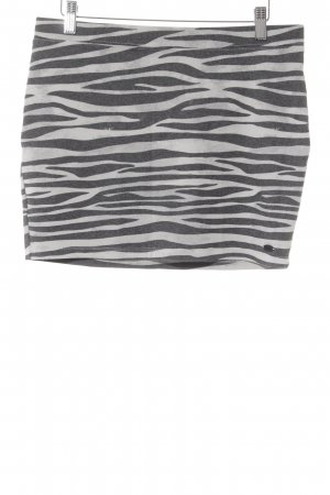 Tom Tailor Miniskirt black-light grey animal pattern simple style