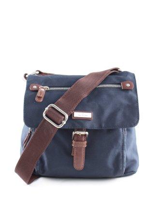 Tom Tailor Minitasche blau-braun Casual-Look