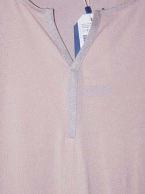 Tom Tailor: neues stylisches Langarmshirt, Glitzerborte rund um den Ausschnitt, Gr. XL