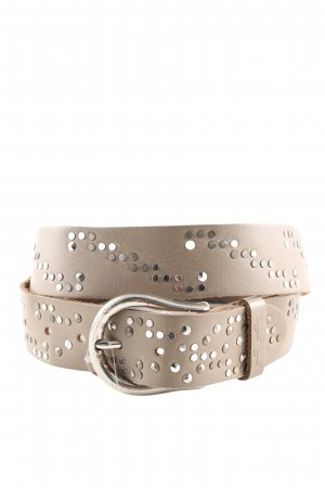 Tom Tailor Studded Belt natural white business style