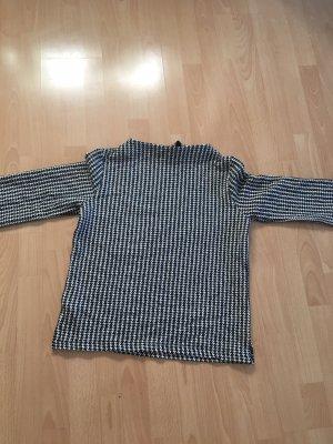 Tom Tailor Sweter z krótkim rękawem biały-czarny
