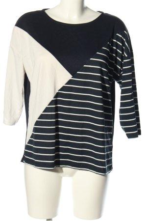 Tom Tailor Oversized Shirt schwarz-wollweiß Streifenmuster Casual-Look