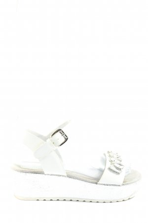 Tom Tailor Sandalias con plataforma blanco look casual