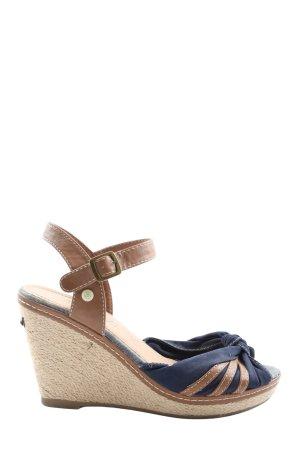 Tom Tailor Plateau-Sandalen braun-blau Elegant