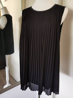 Tom Tailor Plissee A-Linien Top Bluse Tunika Gr.40 schwarz