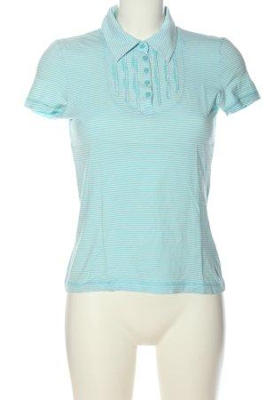 Tom Tailor Polo-Shirt türkis-weiß Streifenmuster Casual-Look