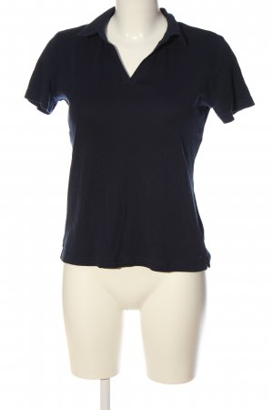 Tom Tailor Camiseta tipo polo negro look casual
