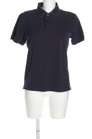 Tom Tailor Polo-Shirt blau Casual-Look
