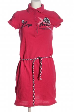 Tom Tailor Polo Dress embroidered lettering casual look