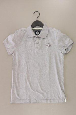Tom Tailor Poloshirt Größe S Kurzarm grau aus Baumwolle
