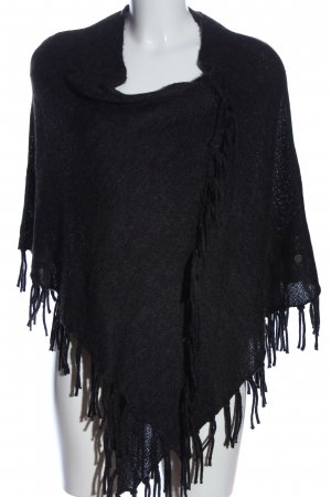 Tom Tailor Poncho schwarz Casual-Look