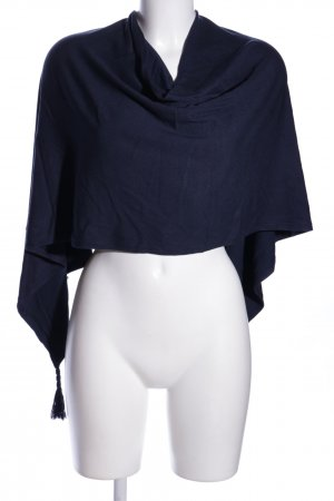 Tom Tailor Poncho blau Business-Look