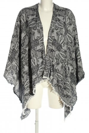 Tom Tailor Poncho light grey abstract pattern casual look
