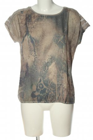 Tom Tailor Print-Shirt creme abstraktes Muster Casual-Look