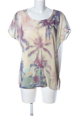 Tom Tailor Print-Shirt Blumenmuster Casual-Look