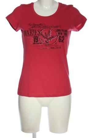Tom Tailor Koszulka z nadrukiem czerwony-czarny Nadruk z motywem W stylu casual