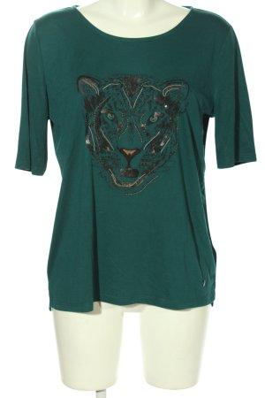 Tom Tailor Print-Shirt grün Motivdruck Casual-Look