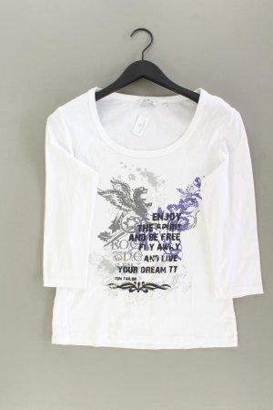 Tom Tailor Printshirt Größe L 3/4 Ärmel weiß