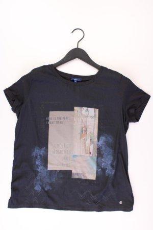 Tom Tailor Printshirt Größe L Kurzarm blau aus Polyester