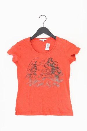 Tom Tailor Printshirt Größe S Kurzarm rot aus Baumwolle