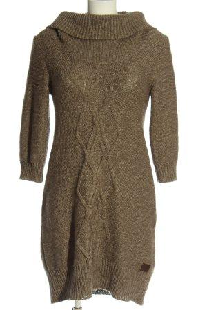 Tom Tailor Swetrowa sukienka brązowy Melanżowy W stylu casual
