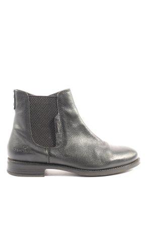 Tom Tailor Reißverschluss-Stiefeletten schwarz Casual-Look