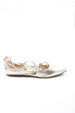 Tom Tailor Strappy Ballerinas silver-colored elegant