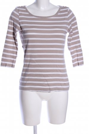 Tom Tailor Stripe Shirt bronze-colored-white striped pattern casual look