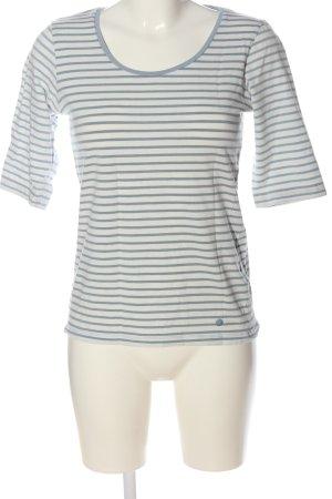 Tom Tailor Ringelshirt weiß-blau Allover-Druck Casual-Look