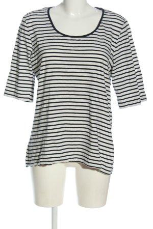 Tom Tailor T-shirt rayé blanc-noir motif rayé style décontracté