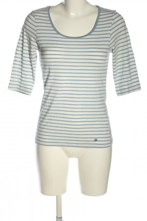 Tom Tailor Ringelshirt weiß-blau Streifenmuster Casual-Look