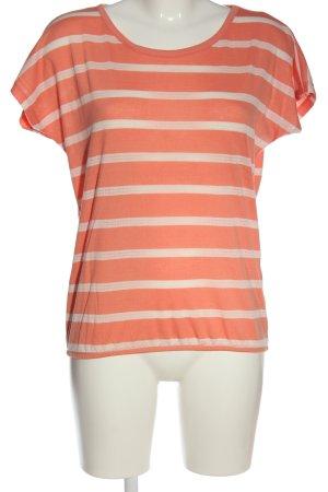 Tom Tailor Camisa de rayas naranja claro-blanco puro estampado a rayas